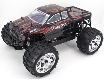 [TOP Li-Po] MONSTER 1:8 HSP SAVAGERY BRUSHLESS BATERIA LIPO 3S EDITION ROJO TRUCK